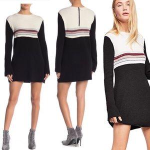 Free People | Color Block Sweater Mini Dress M